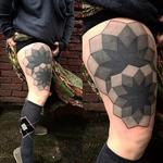 Geometric opaque blacks Tattoo Design Thumbnail