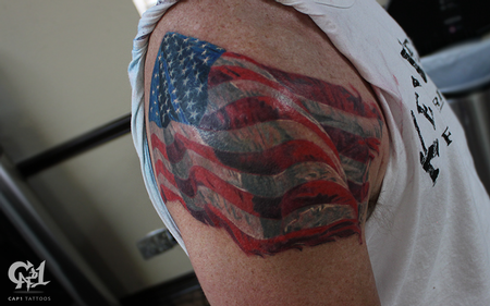 Tattoos - American Flag Tattoo - 128867