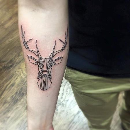 Tattoos - Geometric Deer - 116701