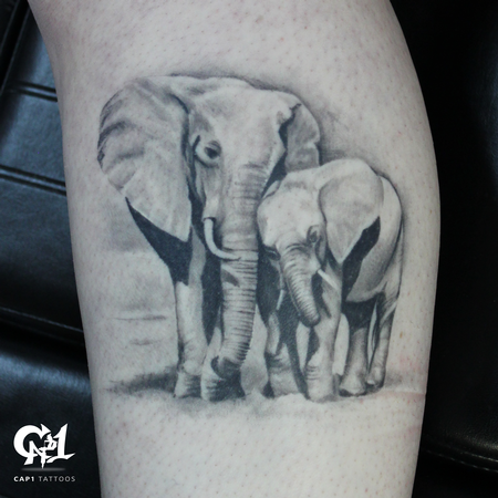 tattoos/ - Realistic Elephant Tattoo - 127064