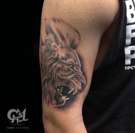 Tattoos - Fierce Lion Tattoo - 122404