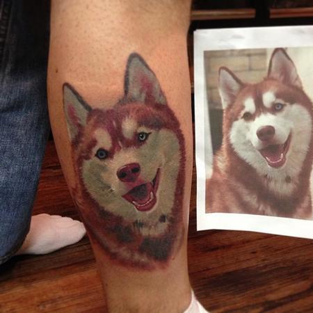 Tattoos - Siberian Husky Portrait - 99446