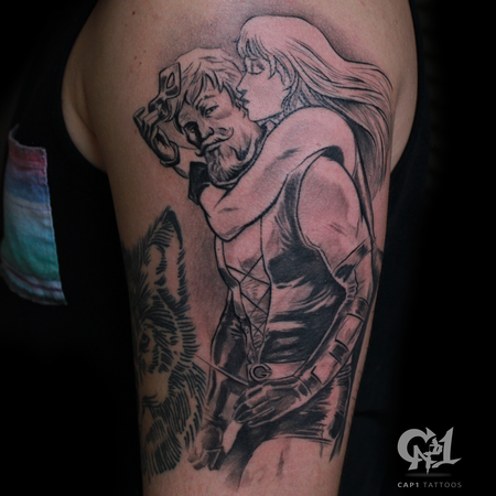 Tattoos - Green Arrow and Black Canary Tattoo - 126149