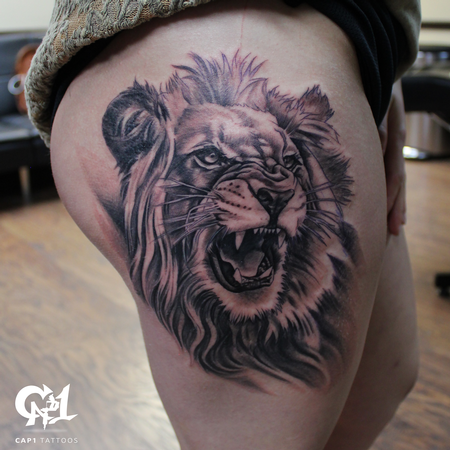 Tattoos - Realistic Lion Tattoo - 126447