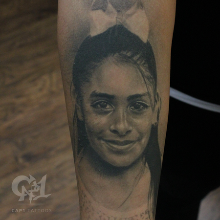 Tattoos - Photorealistic Girl Portrait  - 122902