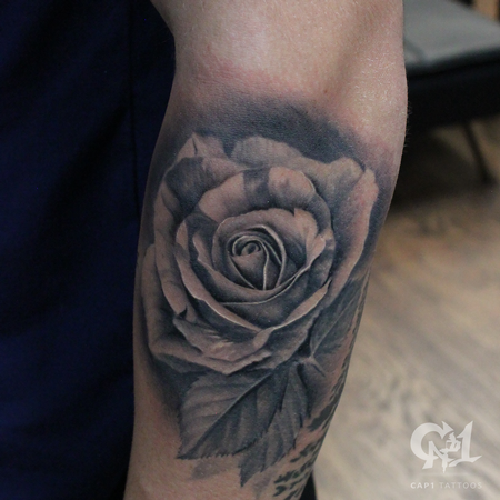 Tattoos - Photorealistic Rose Tattoo - 123163