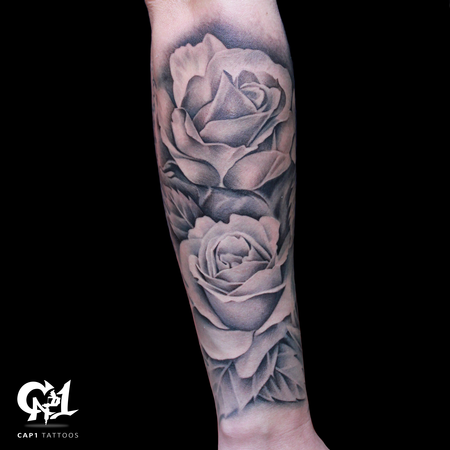 Tattoos - Rose Tattoo Sleeve - 126642