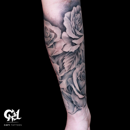 Tattoos - Rose Tattoo Sleeve - 126643