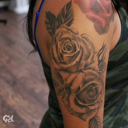 Tattoos - Realistic Roses Sleeve - 129133