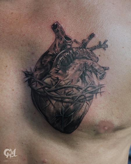 Tattoos - Sacred Heart Tattoo - 129490
