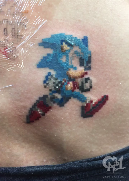 Tattoos - Sonic the Hedgehog 8bit Tattoo - 123814