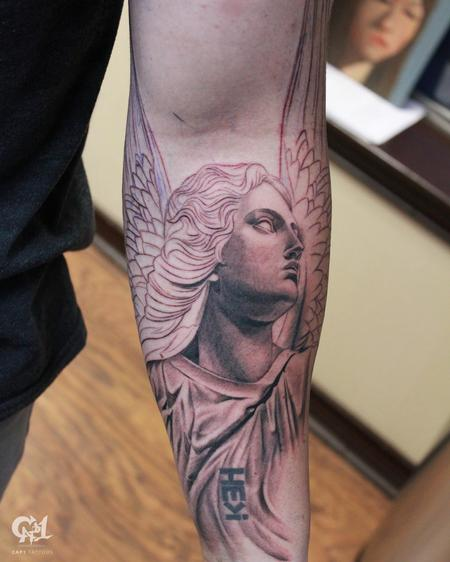 Stone Angel Tattoo Tattoo Design Thumbnail