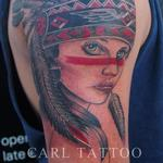 Native americangirltattoo Tattoo Design Thumbnail