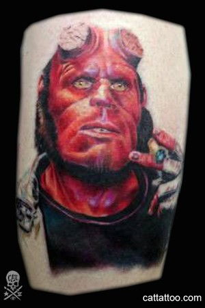Tattoos - Angel Azul Ramirez - HELLBOY