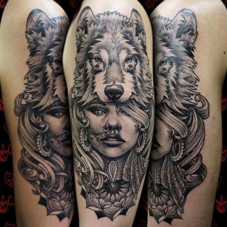 tattoos/ - Wolf Headdress - 129167