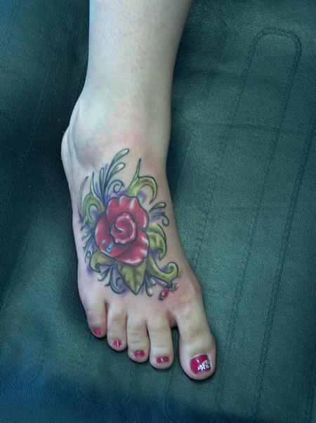 Tattoos - Flower foot tattoo - 59362