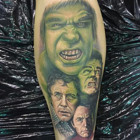 tattoos/ - Color Hulk Transformation Tattoo - 115224