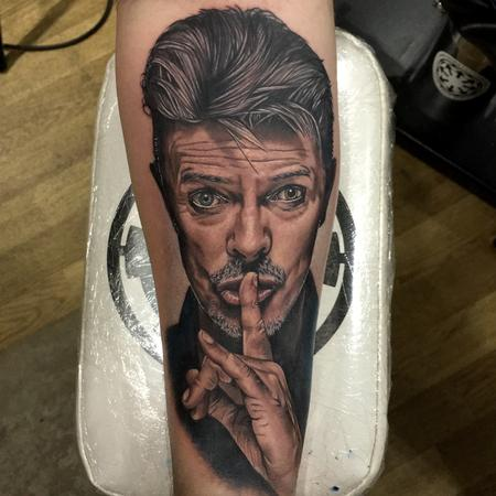 tattoos/ - David Bowie Portrait Tattoo - 115225