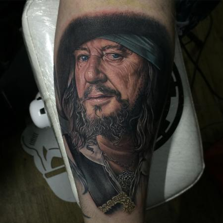 tattoos/ - Captain Barbossa Portrait Tattoo - 115227
