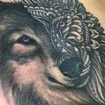 Mandala style Wolf  Tattoo Design Thumbnail