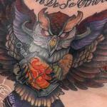 Owl Lantern Chest piece Tattoo Design Thumbnail