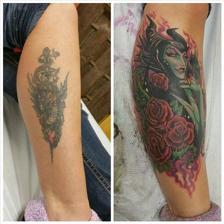 Fantasy Dragon - maleficent cover up
