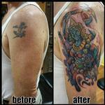 Kali tattoo cover up Tattoo Design Thumbnail