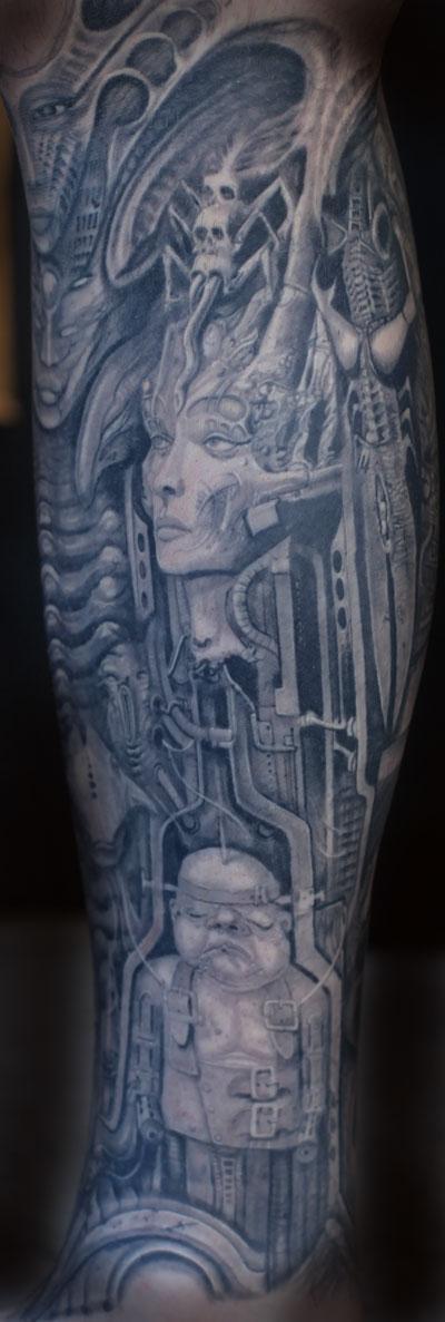 tattoos/ - geiger sleeve - 89664