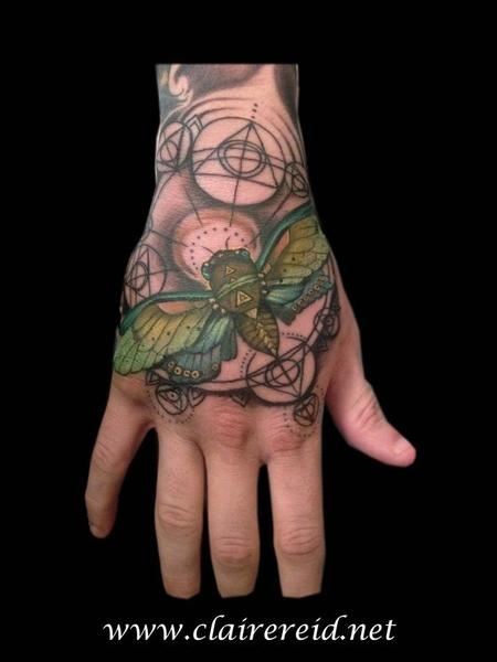 tattoos/ - Cicada hand tattoo - 92223