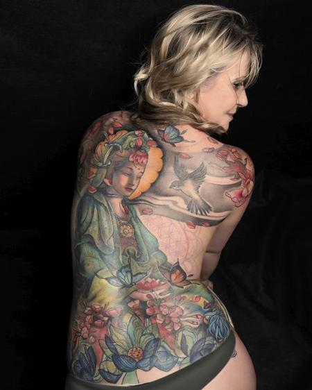 tattoos/ - Quan Yin backpiece tattoo - 92222