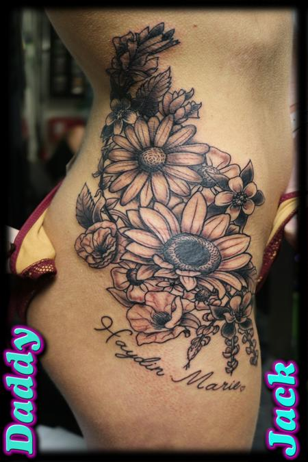 tattoos/ - Floral Body Curve - 130454