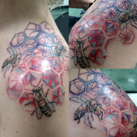 tattoos/ - Bees & Geometry - 126507