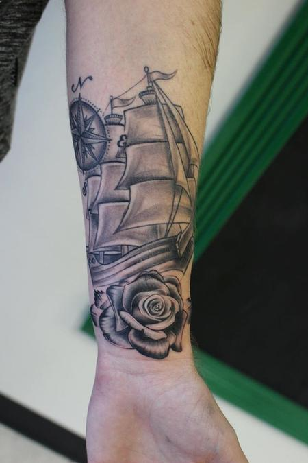 tattoos/ - Nautical Forearm Piece - 126506