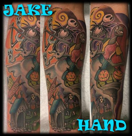 Color - Nightmare Before Christmas JackandSally by JakeHand