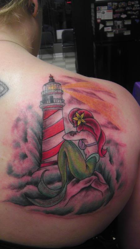Feminine - lighthouse & mermaid