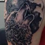 Howling Wolf Tattoo Design Thumbnail