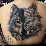 Wolf Mandala Tattoo Design Thumbnail