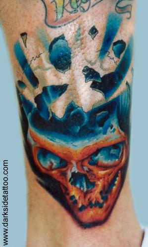 Fantasy tattoos Tattoos exploding skull
