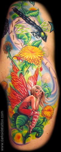 Fantasy tattoos Tattoos Dandelion Fairy