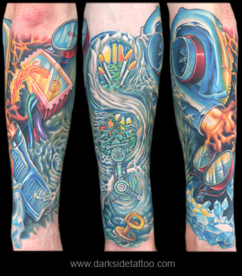 Tattoo Galleries: Car Engine Tattoo Design