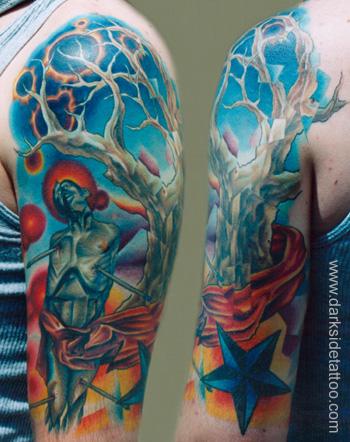 Fantasy tattoos Tattoos martyr and tree