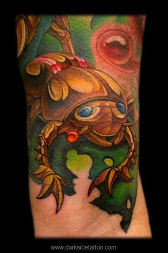 Fantasy tattoos Tattoos Mechanical Beetle (Detail 1)