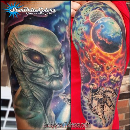 tattoos/ - Color Outerspace Tattoo - 130052