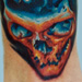 Tattoo-Books - exploding skull - 2941