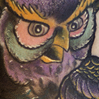 Hootin Owl Tattoo Design Thumbnail