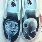 tattoos/ - Jack Skellington & Sally Custom Vans Shoes