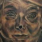 Tin man portrait Tattoo Design Thumbnail