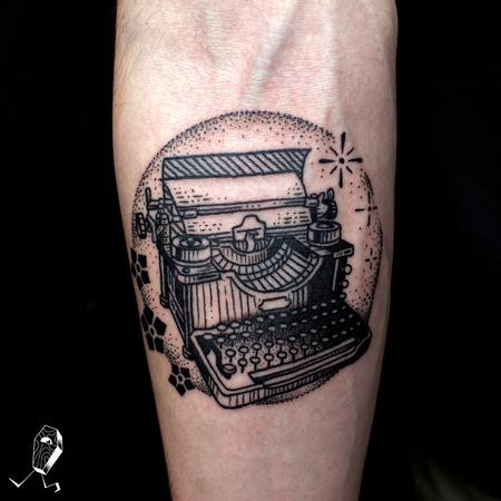 tattoos/ - Vintage Illustrative Typewriter - 127286