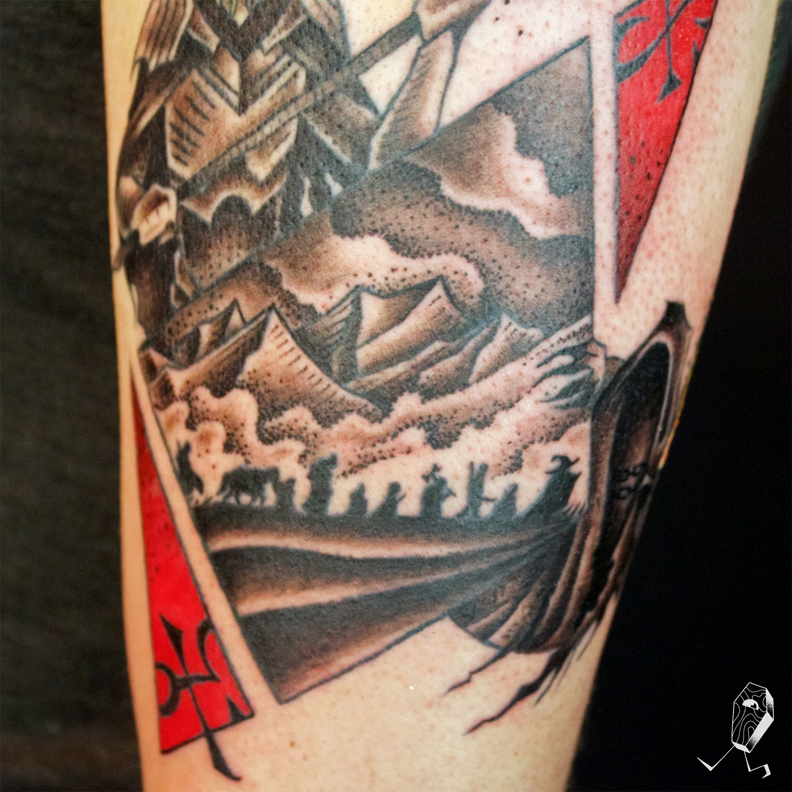 tattoos/ - Lord Of The Rings Vignette Closeup - 125273