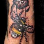 Dotwork Bumble Bee Tattoo Design Thumbnail